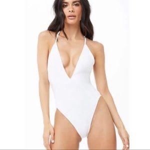 Forever 21   NWT Ribbed Crisscross Bikini Swimsuit